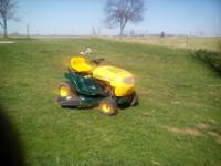 Good running and cutting Yard Man riding mower , it has