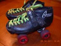 I have a pair of used Riedell Carrera size5 roller