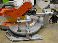 "Selling a lightly used, Rigid 12"" sliding miter saw in"