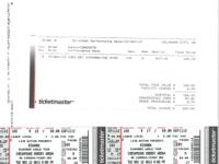 Two tickets - $100 each ($200 total) - in Section 102,