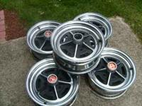 5 GM style chrome rims.14 inch, good condition.Call