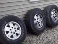 I have two rims off of a 91 Chevy 4x4 for sale. They