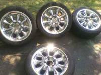 "I have 4 17"" rims with tires, 5X120. The tires are"