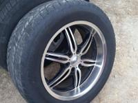 4 20 inch rims 6 hole muth fit chevy GMC 1 almost new
