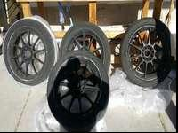 Selling used racing rims matt black they arr 17 lug