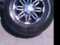 the chevy rims and tires r 16in brand new the rims are