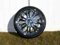 SET OF 4 - 20 INCH RIMS AND TIRES: GREAT DEAL!!! LIKE