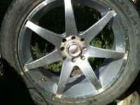 I HAVE 2 17 IN RIMS AND TIRES FOR $75 AND I ALSO HAVE 4