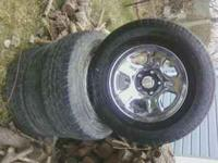 Up for sale are this tires and rims. This are my uncles