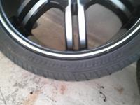 "Excellent condition vct black Torino rims 20"" rims n"