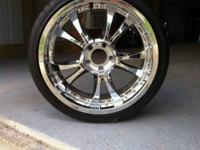 "For Sale: 4 19"" chrome rims. These are 5 lug rims."