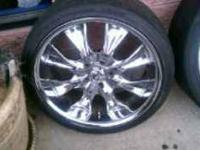 "I HAVE SOME ""20 in"" Rims and tires for sale,its a set"