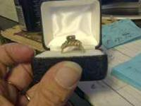 Wedding and engagement ring for sale. Over 2 carats, a