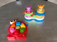 Delicately used toys ... Playskool Busy Peek-N-Pop