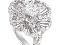 The ethereal design of this diamond frosted ring is fit