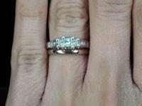 $500 for all rings are size 5. 1/2 karat white gold