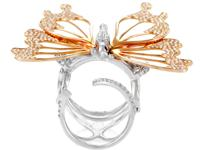 With gracefully flowing 18K rose gold assuming a
