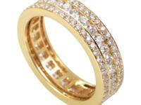 With three layers of diamonds, the radiance of this