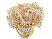 A lavish, spectacular flower-shaped decoration, with