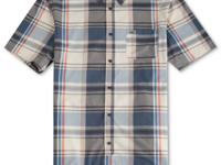 Whether you pair this classic plaid button front shirt