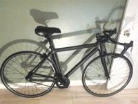 Utilized flat black aluminum frame with steel forks,