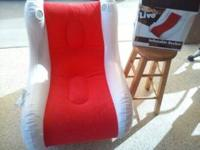Inflatable Rocker chair with speakers, perfect to take