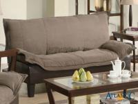 Develop a practical living area with this sofa bed. The