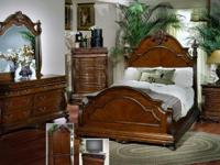 THIS IS AN ELEGANT MOHAGANY BEDROOM SET.....AND THIS IS
