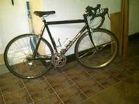 NICE BLACK CANNONDALE ROAD BIKE, EXTREMELY WELL