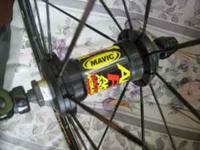I'm selling a set of Mavic racing wheels with a shimano
