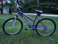 "For sale 26"" girls mountain bike 18 speed. In like new"