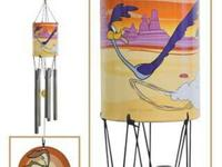 Road Runner Wile Coyote Windchime Warner Bros NOS LOOK