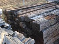 Railroad ties $9 Plus tax Pickup Hours Monday - Friday