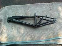 This is a 22 inch bmx bike frame. The frame is