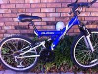 Roadmaster 18 speed with dual suspension, bike was kept