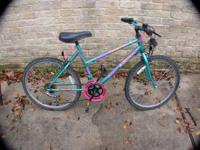 "ROADMASTER TEAL GREEN 24"" HYBRID BICYCLE 10 SPEED"