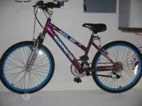 24 inch Roadmaster 18 speed mountain bike. Cash only,