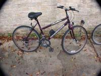 "THIS IS A ROADMASTER WOMEN'S 10 SPEED 26"" HYBRID PURPLE"