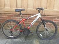 18 speed mountain bike by Roadmaster is less than year