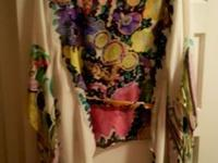 Authentic Roberto Cavalli women's silk floral printed