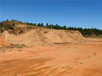 This 40 acre dirt pit lies on Greek Cemetery Road in