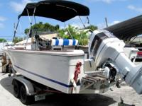 1977 Robolo 230 center console boat powered by a 1992