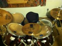 I am offering my red rock wood drum set for 250 OBO.