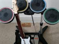 I've got a rock band drums, guitar and video games.
