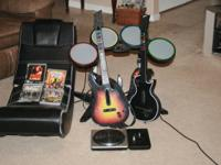 drum set mixer gamming chair 2 guittars 4 games guitar