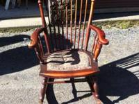 Pretty rocking chair.  (Cherry or Mahogany)  Some inlay