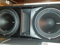 I have for sale 2 sets of speakers and amp. 1 is a