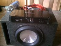 "Rockford Fosgate stereo system. 12"" T2D4 subwoofer."