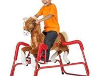 Rockin' Rider Lucky Talking Plush Spring Horse Rockin'