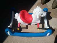 Todays kids brand plastic rocking bouncy horse. $20